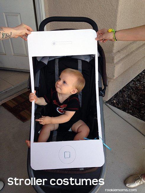costume iphone per bambini in passeggino