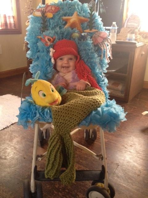 costume per bambini in passeggino-sirenetta