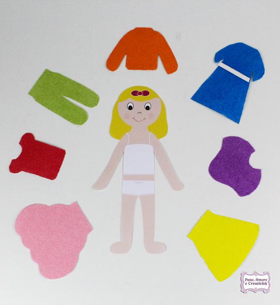 Giochi creativi stampa e decora i vestiti per la bambola for Case di tronchi economici da costruire