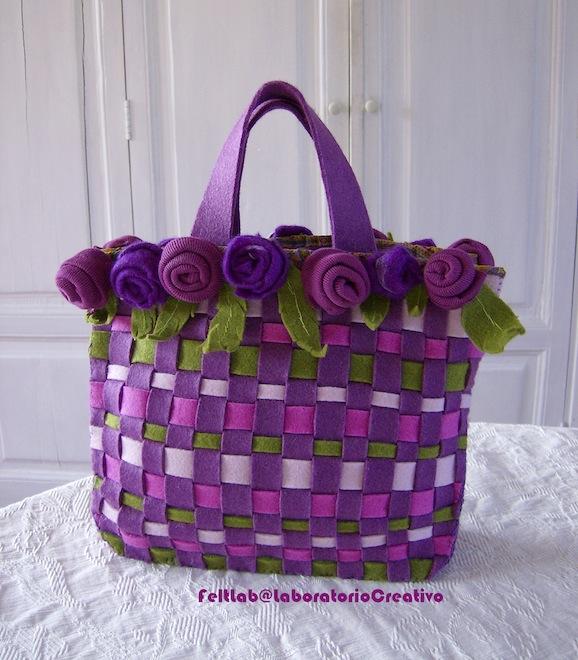 Bolsa De Festa De Feltro : Guida come creare una borsa di feltro ad intreccio pane