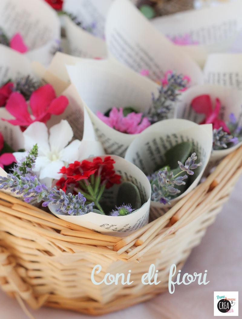 Matrimonio fai da te niente riso ma coni di fiori for Fiori con la e