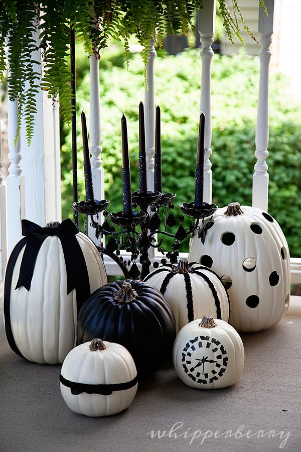 decorazioni halloween in bianco e nero
