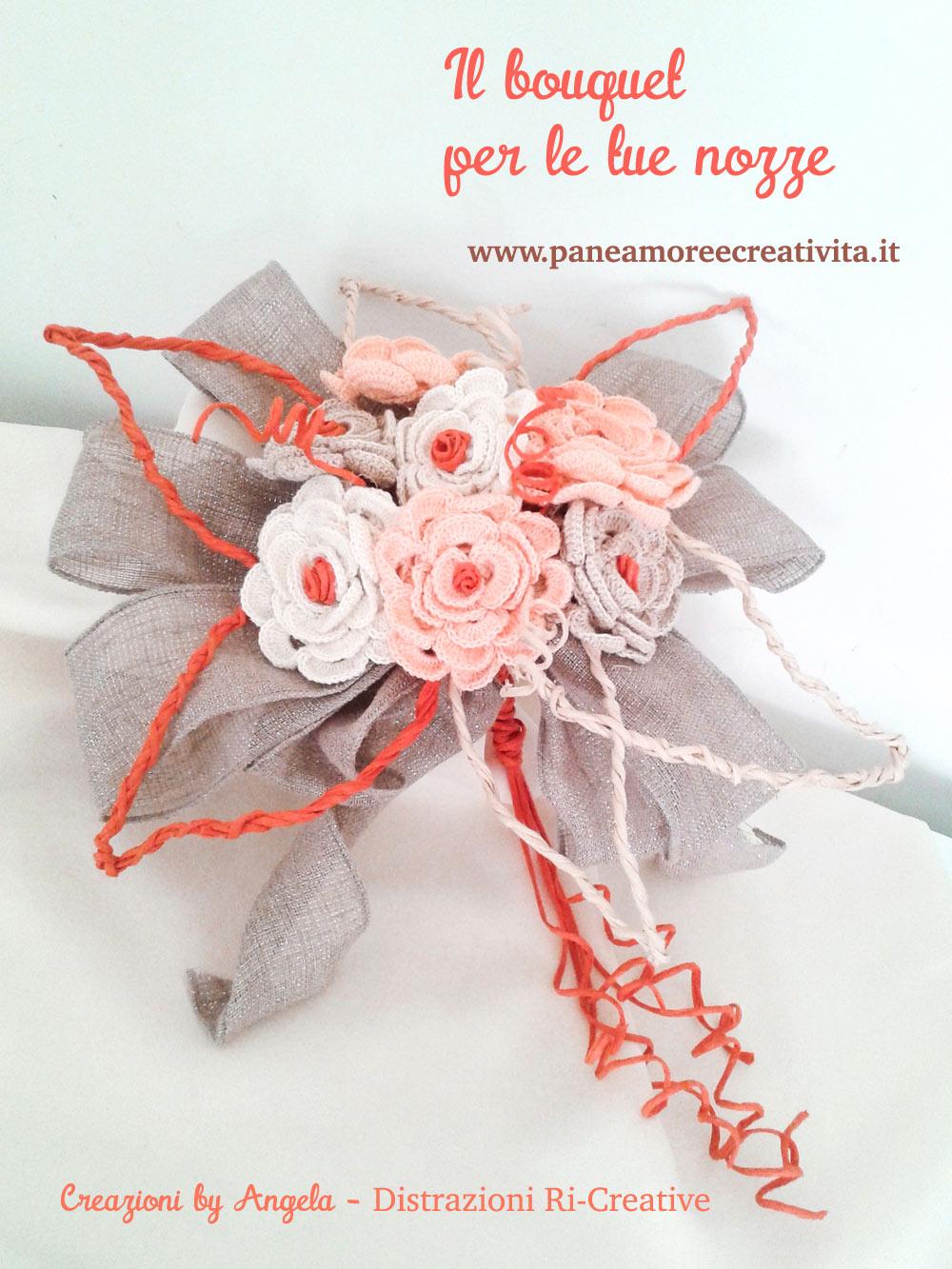 Rose Fai Da Te matrimonio fai da te: bouquet di rose all'uncinetto · pane