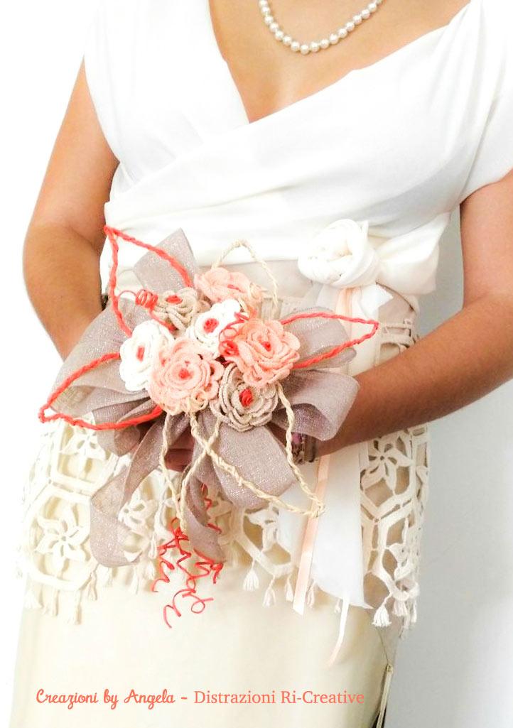 Bouquet Sposa Uncinetto Tutorial.Matrimonio Fai Da Te Bouquet Di Rose All Uncinetto Pane Amore