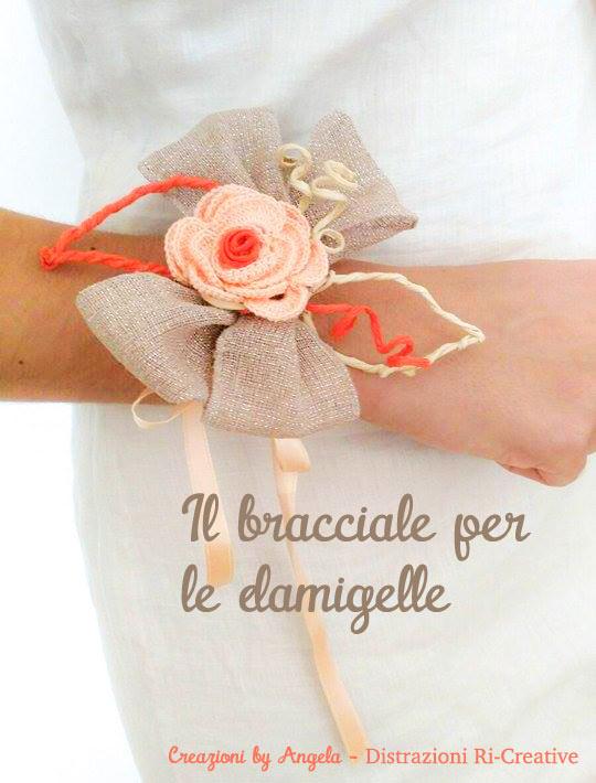 Matrimonio fai da te: bracciale per damigelle all'uncinetto