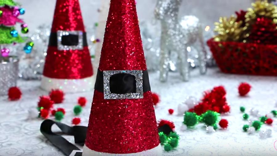 Lavoretti Fai Da Te Di Natale.Alberi Di Natale Con Glitter Fai Da Te Pane Amore E