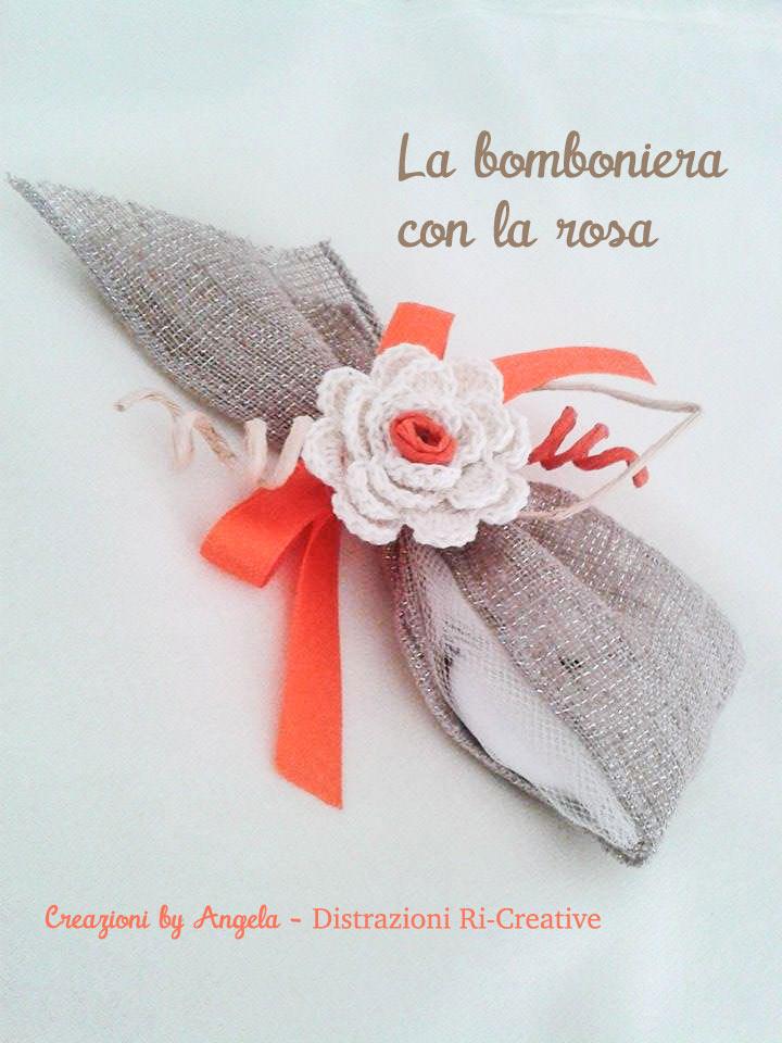 Matrimonio Fai Da Te Bomboniera Con La Rosa All Uncinetto Pane