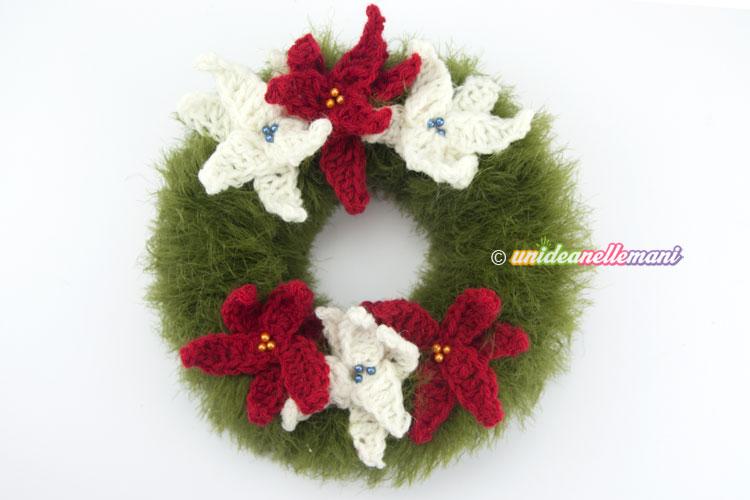 La Ghirlanda Di Natale Ad Uncinetto Pane Amore E Creatività