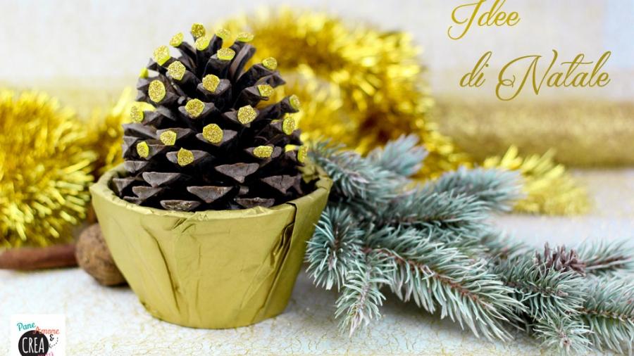 Kreattiva Lavoretti Di Natale.Come Realizzare Un Centrotavola Di Natale In Pochi Minuti Pane Amore E Creativita