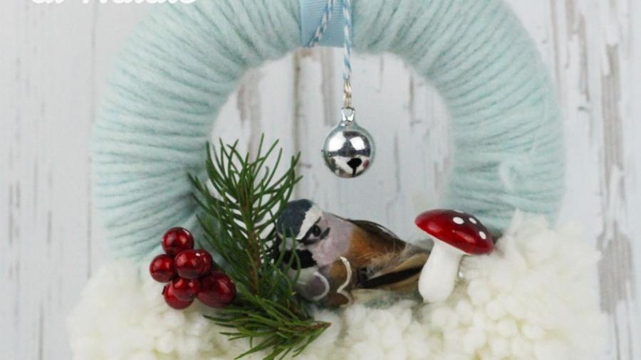Lavoretti Di Natale Con La Lana.La Corona Di Natale Con I Pon Pon Di Lana Pane Amore E