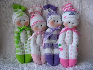 bambola - come riciclare le calze