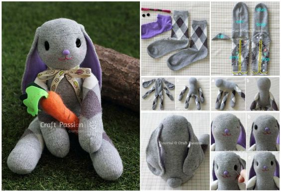 come riciclare le calze - coniglio