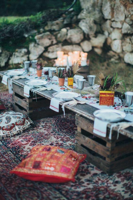 cena in estate-tavolo fai da te