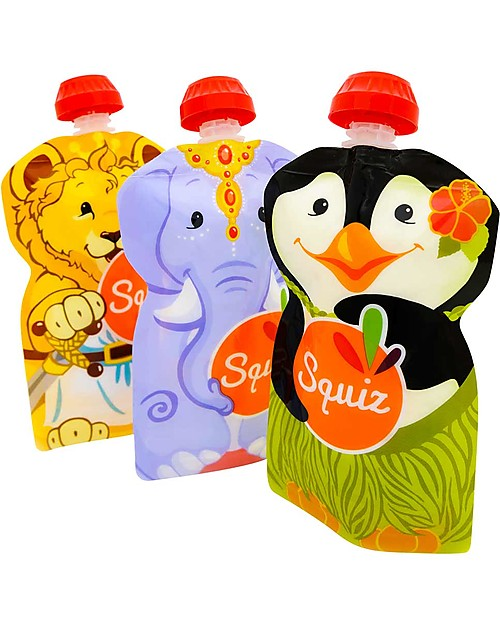 squiz-eco-dispenser-pappa-reutilizzabile-elefante-leone-e-pinguino-pacco-da-3-130-ml-sacchetto-cibo_11625