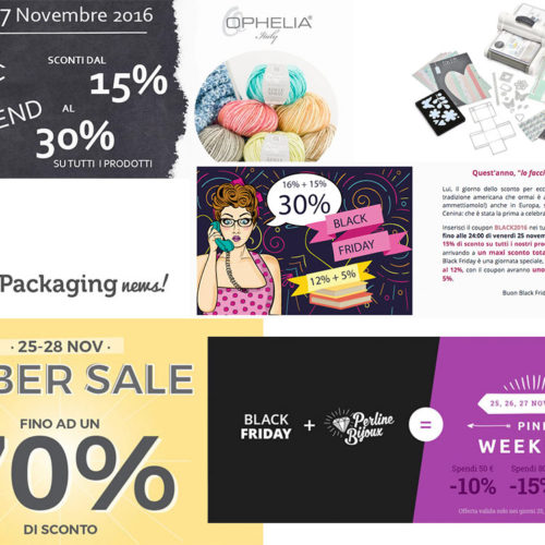Black Friday 2016: materiale creativo in sconto!