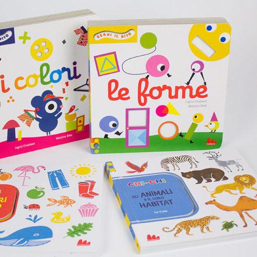 Libri per bambini da 1 a 2 anni:  Chi con chi e Segui il dito – Gallucci
