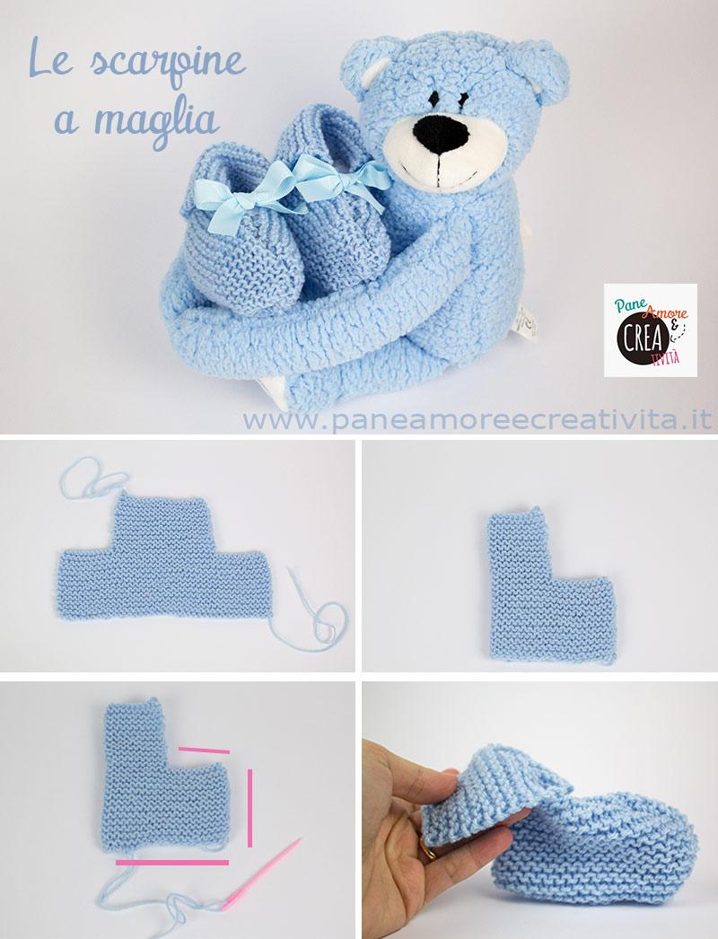 Scarpine e berretto a maglia per neonati  scopri come si fanno ... c07e3f0d734f