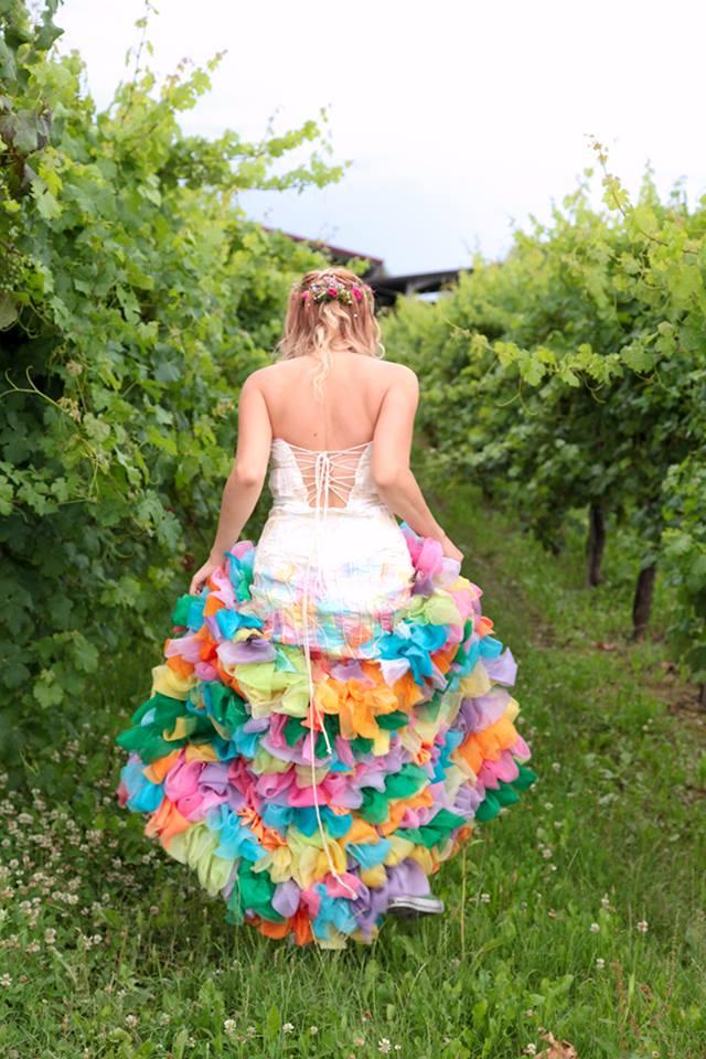 abito da sposa orginale
