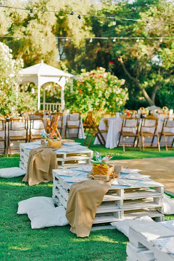 picnic matrimonio con pallet