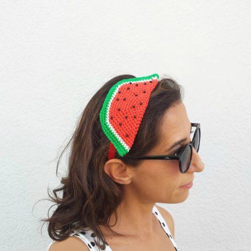 Tutorial uncinetto: come fare una fascia per capelli a forma di anguria