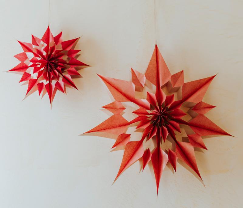 Stelle decorative ghirlande e fiori di carta giganti - Dal molin tavole per icone ...