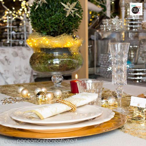 La mia tavola di Natale dorata