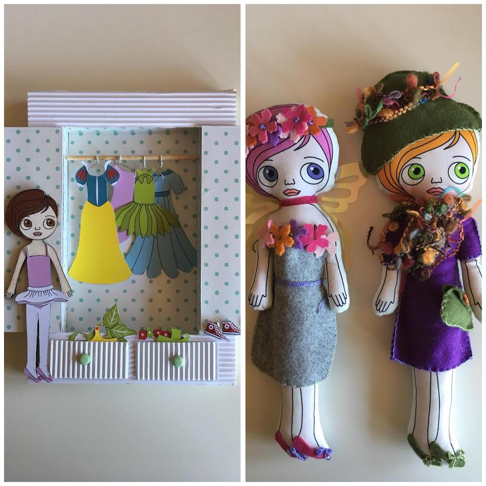 bambole di legno