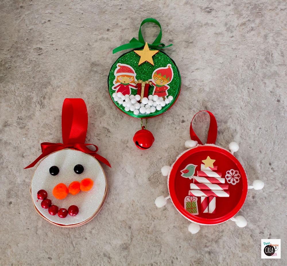 riciclare i tappi - tre idee creative natalizie