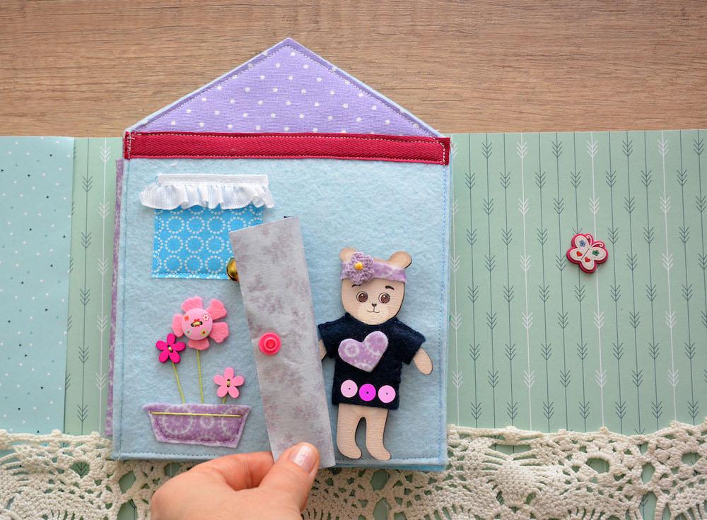 casa di orsetto - gioco di feltro fai da te
