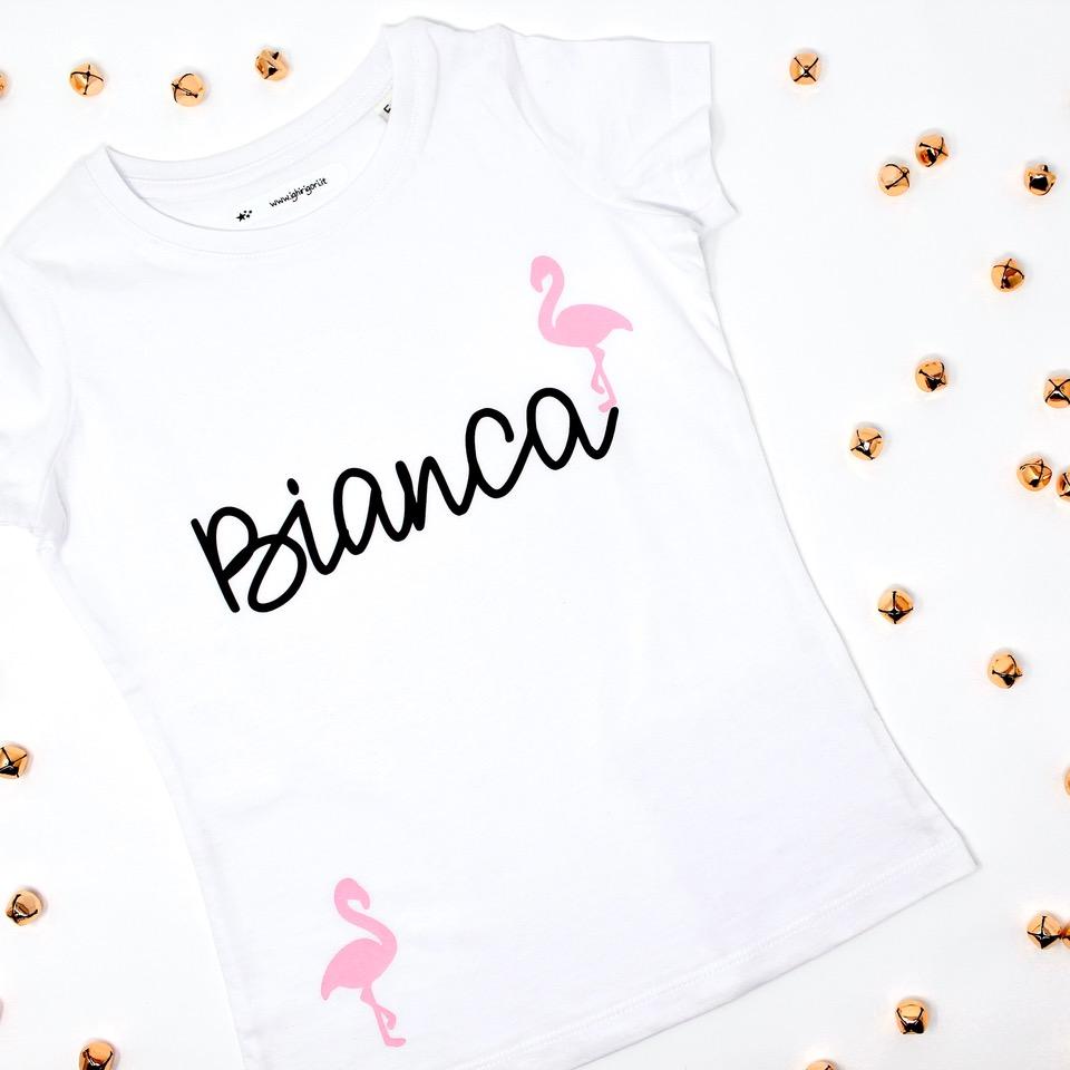 maglietta personalizzata con nome - i ghirigori