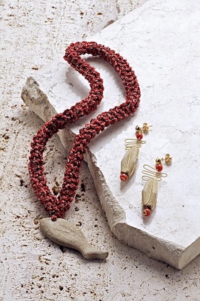 gioielli in pietra di vicenza - collana