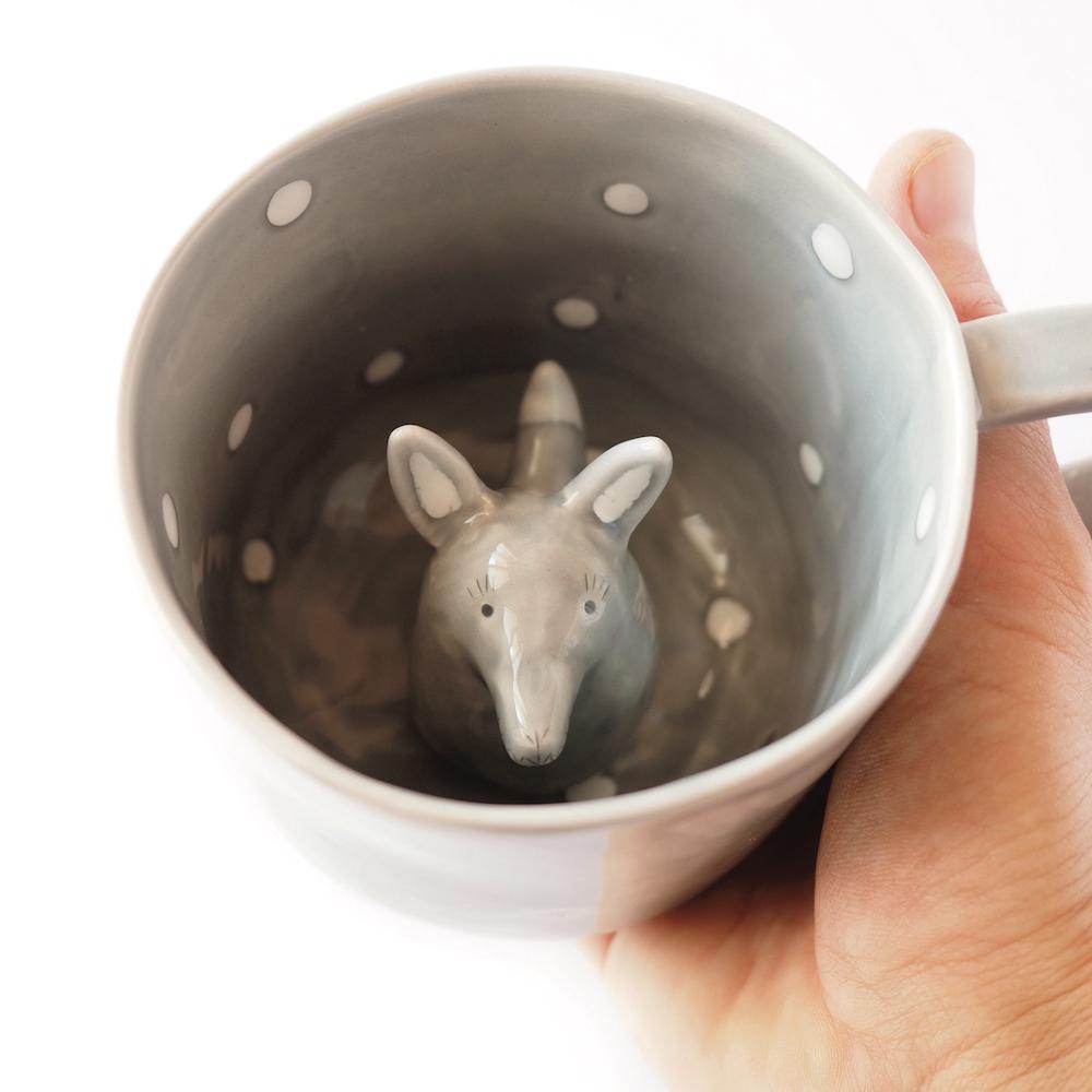 tazza con lupo - tramai