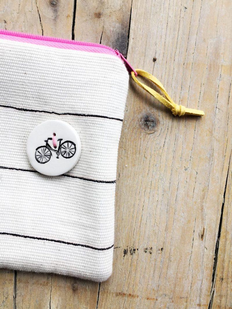 bottoni con bicicletta - bottone