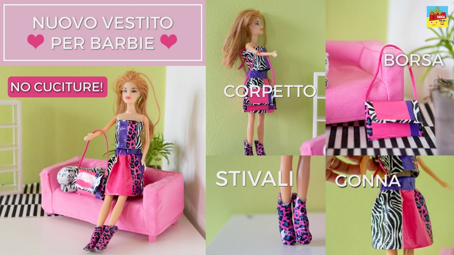 Vestito per Barbie fai da te con stivali e borsetta! · Pane, Amore