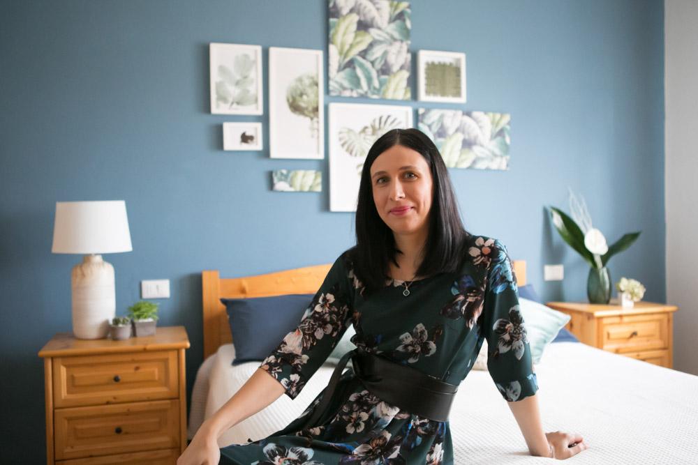 linda pareschi - camera da letto blu