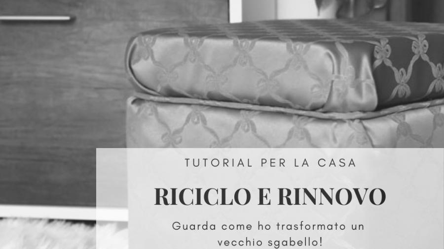 sgabello riciclato e rinnovato-tutorial