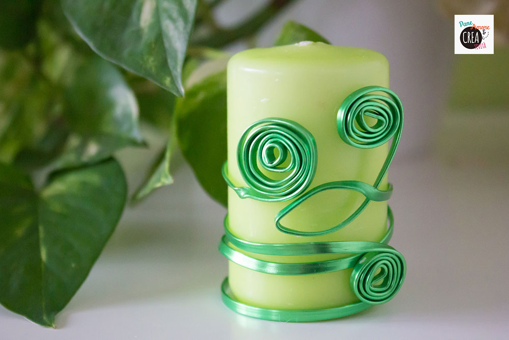 decorare-le-candele---candela-verde