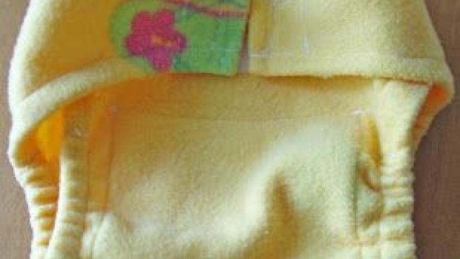 mutandina in pile per pannolini lavabili