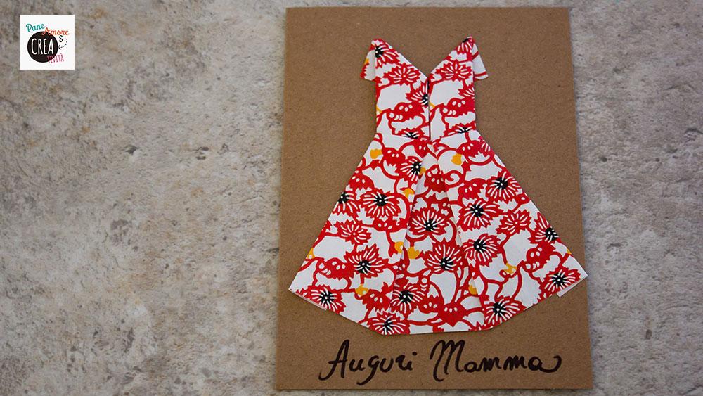 biglietto origami per mamma