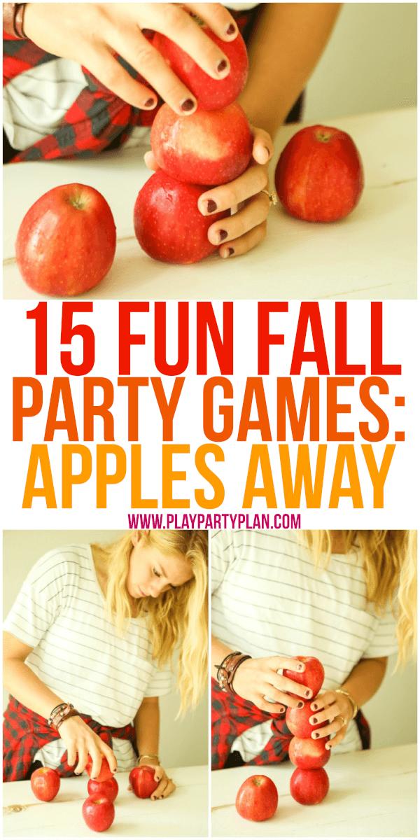 piramide di mele - gioco da fare a Halloween