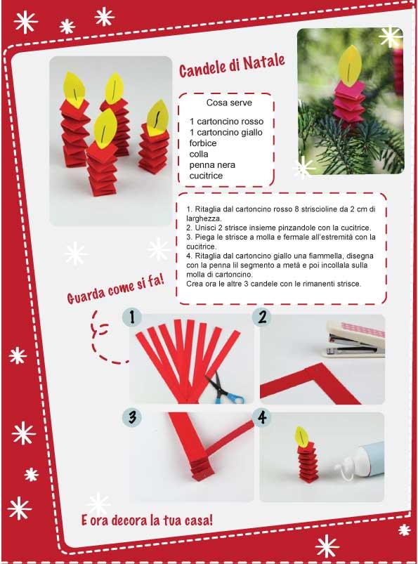 Lavoretti Avvento - candele di cartoncino