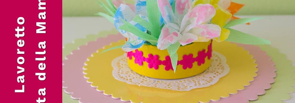 lavoretto per la festa della mamma con i fiori